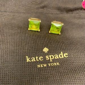 Kate Spade Lime Green Gem Earrings.